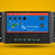 Regulator solarny PWM na zółtym tle